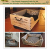 Hot sale natural vintage europe wooden dog crates,rustic large wooden dog crate