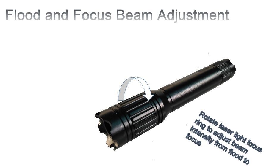 Rotate- laser flashlight -beam -adjustable -Green Laser Illuminator