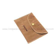Small Exquisite Wholesale Envelope Velvet Jewelry Bag With Flap
