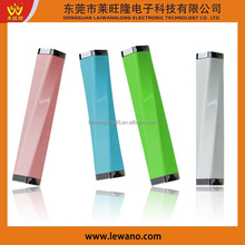 Smallest light portable mobile power charger Waistline power bank 2200mAh with LED torch fuction