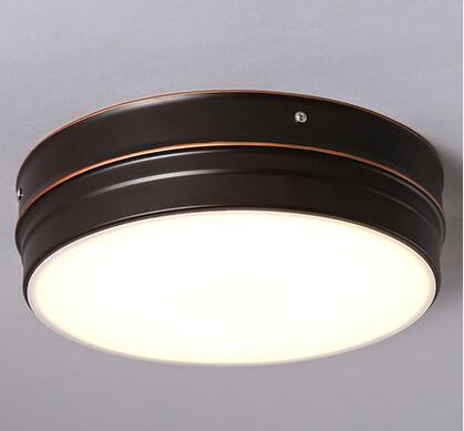 European style round shade glass pendant light iron led ceiling lamp 15-C4385