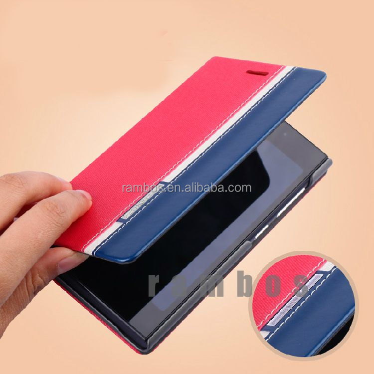Sublimation Cell Phone Cover High Quality Leather Wallet Case for HTC 8x