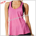 2017 New stylish wholesale gym wear women fitness tank top custom dry fit plain loose fit stringer tank top yoga tank tops