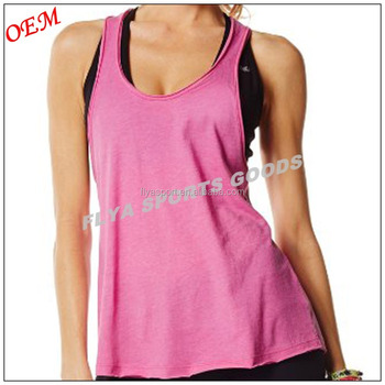 2018 New stylish wholesale gym wear women fitness tank top custom dry fit plain loose fit stringer tank top yoga tank tops