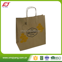 Wholesale cheap recycle craft brown paper bags for clothing