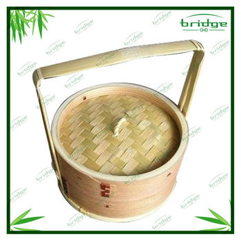 Progressive International bamboo steamer baskets with handle