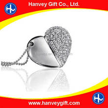 Metal heart shape usb flash drives,keychain usb memory