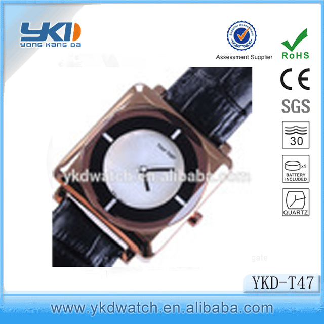 Man watch rose gold color japan movt quartz watch stainless steel back watch