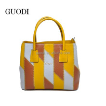 2015 Muti color latest leather fashion bags ladies handbags with strap