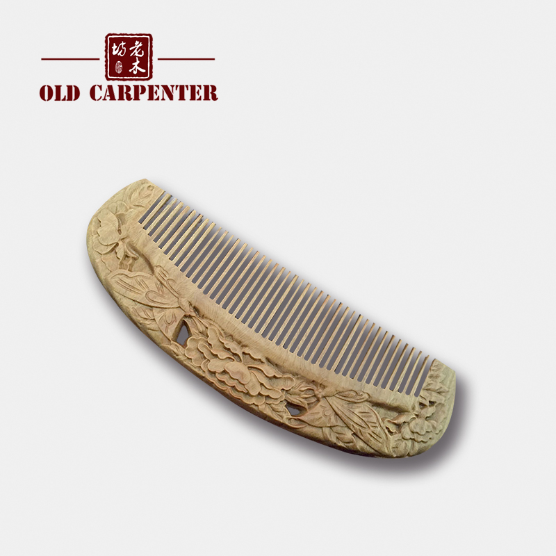 Carved exquisite high-quality sandalwood OEM Woman Personalized Hair Comb hair comb