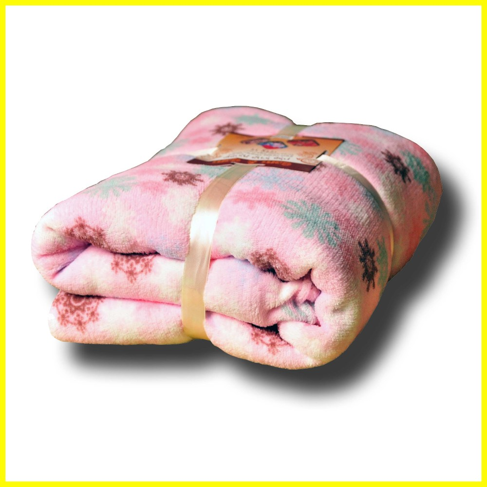 100% Polyester Printed Coral Fleece Blanket throw
