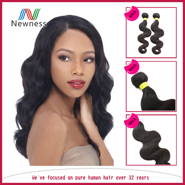No Synthetic unprocessed wholesale virgin brazilian hair Hand Selected Body wave hair weft
