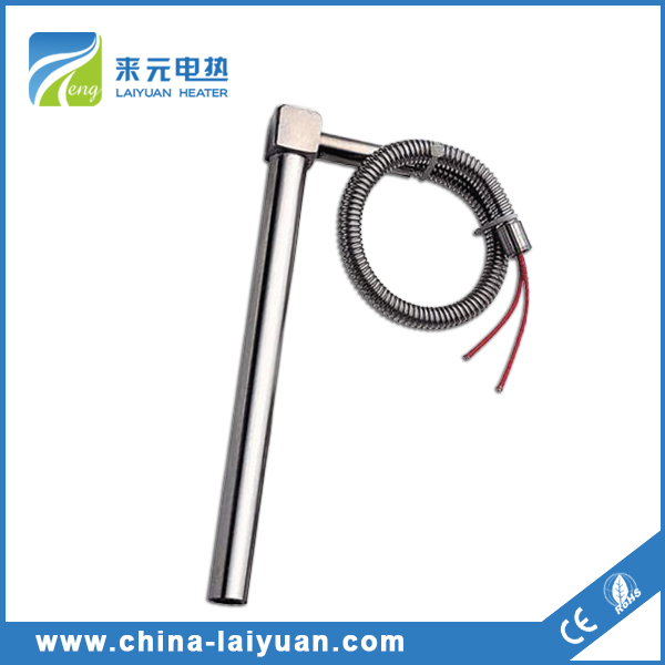 Cartridge heater with right angle and hose Electric bar heater Cartridge heater