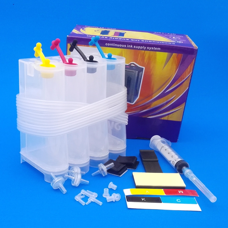 Empty Ciss Tanks with All Accessories Syringes and Needles diy all inkjet printer