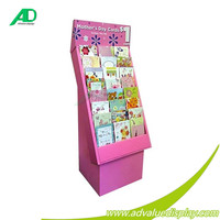 Chinese pop floor cardboard picture display racks stand