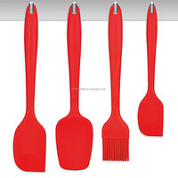 Silicone Spatula Set - 450F Heat-Resistant Baking Spoon & Spatulas - Ergonomic Easy-to-Clean Seamless One-Piece Design