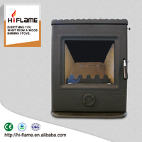 Minimalist style Hiflame cast iron metal type wood fireplace insert with furnace GR357i
