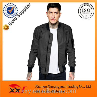 Fashion slim fit custom bomber jackets men wholesale blank varsity jackets