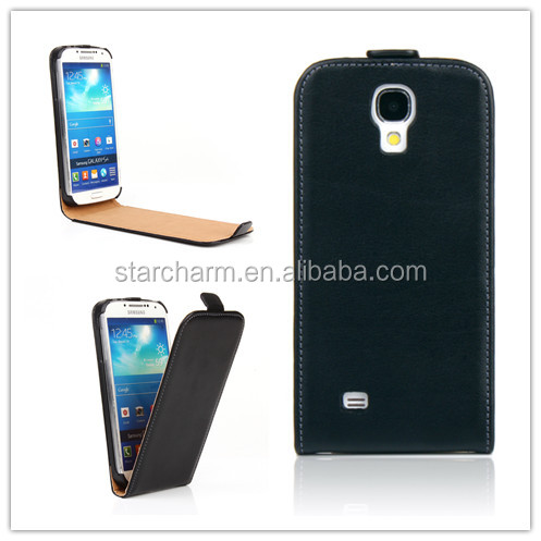 wholesale cell phone accessory China slim genuine leather phone case for Samsung Galaxy S4