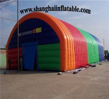2017 good selling colorful large cube inflatable tent /Inflatable tent display for outdoor event advertising promotion