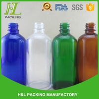 hot green blue amber cleear glass 100ml bottle glass bottles 100ml with lead line for e-liquid