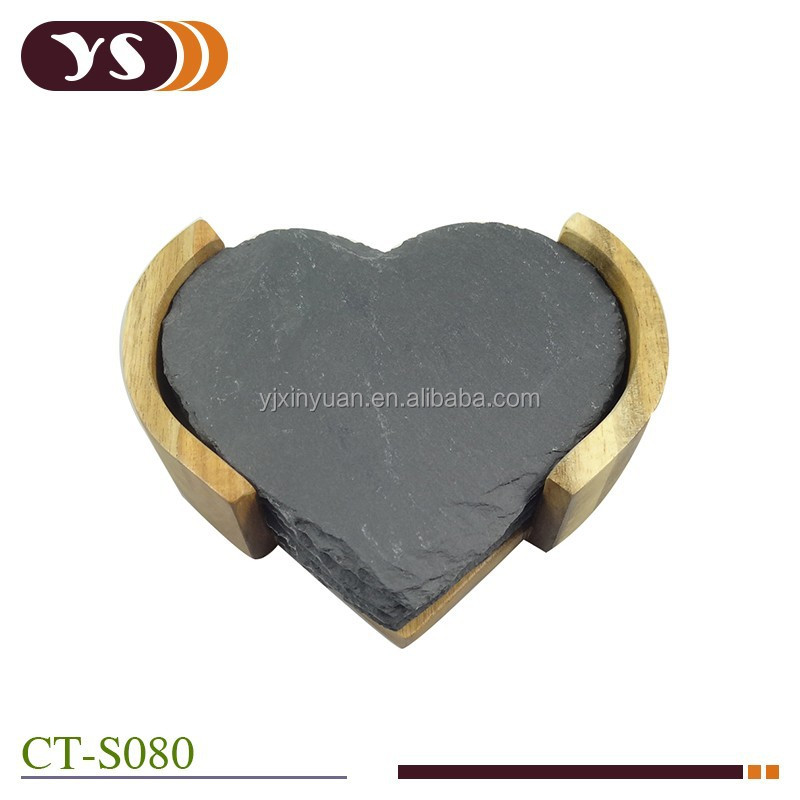 heart shape Slate Coasters