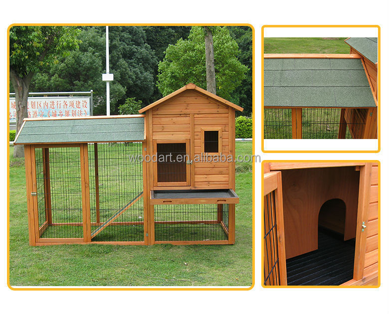 Wooden Rabbit Hutch with large run For 5 Rabbits At Least metal rabbit hutch