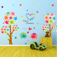 Removable Eco-friendly PVC living room bedroom children's room TV backdrop small colored oak wall stickers for decorations