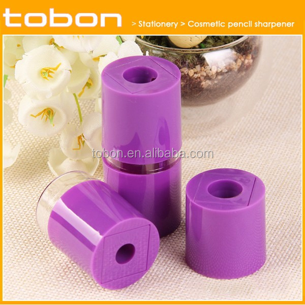 cosmetic lipstick shape double holes plastic pencil sharpener