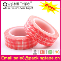 hot seller custom printed manila washi tape with customize design