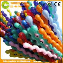 Christmas toy Screw/2.8g spiral shaped latex balloon