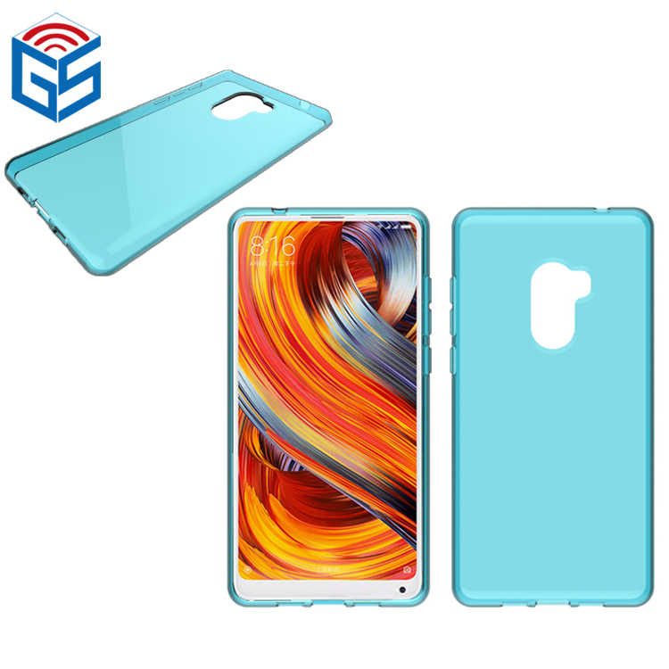 Full Clear Transparent Soft Gel TPU Back Cover For Xiaomi Mi Mix <strong>2</strong> / Mix Evo / Mix2 Case