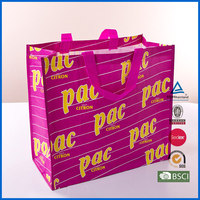 China pp woven shopping bag with gravure printing