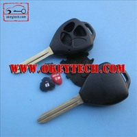 Okeytech toyoya key blank Toyota yaris 2+1 buttons remote key case for toyota yaris remote key