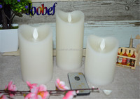 White Pillar Candles Scented 3