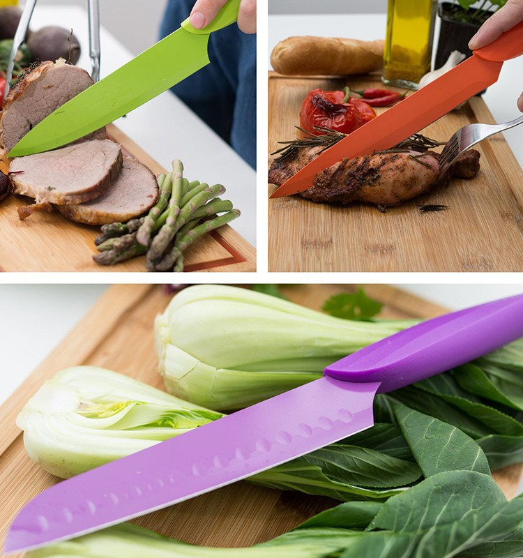 5 pcs useful Ceramic knife set kitchen with arcylic stand