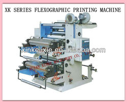 XINKE two color plastic bag flexographic printing machine