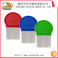 Wholesale round handle lice combs steel ,nit free terminator lice comb