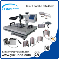 8 in 1 t-shirt heat press machine combo 3d sublimation machine
