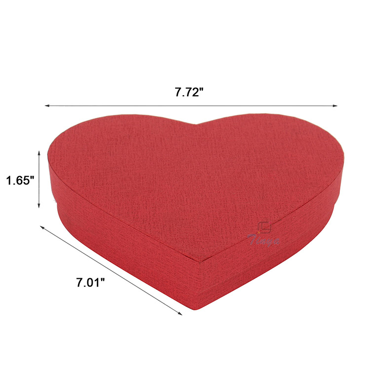 cardboard packaging quality gift heart shaped boxes