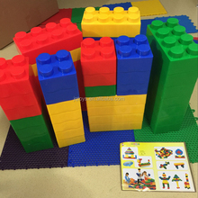 Children plastic large building blocks to Creative plastic interlocking toy for kids