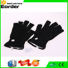 Wholesale Black Skeleton LED Gloves Fingers Light Up Flashing Hip-Hop Fashion Style Gloves Night Light Cotton Glove