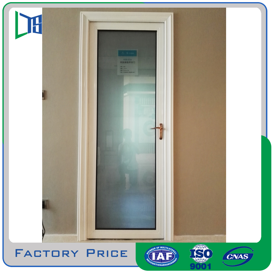 Factory price aluminum swing door for toilet