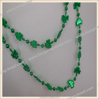 Plastic Bead Necklace Clover Shaped Necklace Luminous for Party Decorate Export USA Eco-friendly Meterial Factory Direct