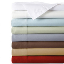 Pure 100% cotton elegant quality plain sateen bed sheets / bedsheets