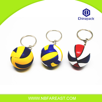 High quality cheap sports ball style custom plastic keychain