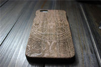 2015 Stylish wooden fashion design laser engraving smart phone case wood factory price hard plastic shell