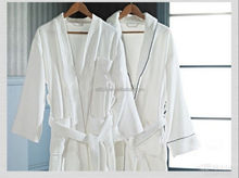 Alibaba China 100% Cotton Terry High Quality and Soft Lapel Soft Bathrobe for Home and Hotel