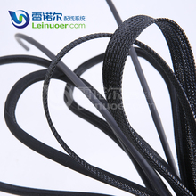 plastic braid PET expandable sleeving for electrical cable wire protecting
