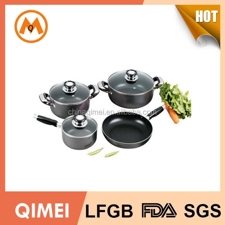 pots and pans chef cookware set with glass lid